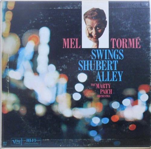 MEL TORME MARTY PAICH - Swings Shubert Alley - 33T