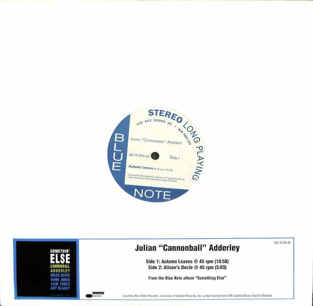 JULIAN CANNONBALL ADDERLEY - Autumn Leaves / Alison's Uncle - Maxi x 1