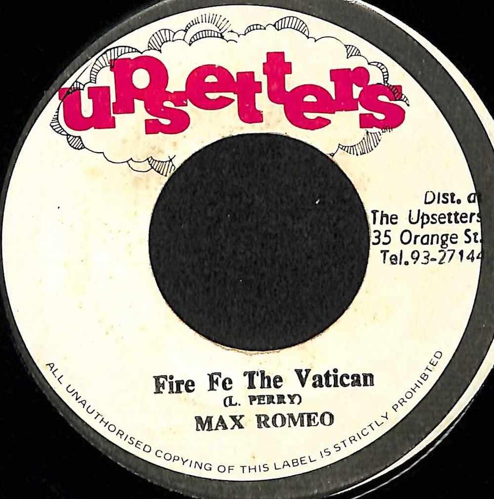 MAX ROMEO / JAH LLOYD - Fire Fe The Vatican / Leggo - 7inch x 1