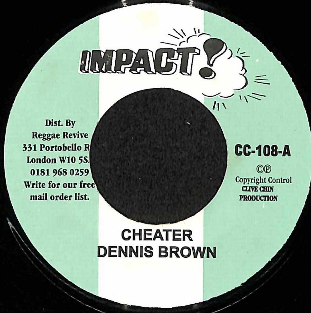 DENNIS BROWN / TOMMY MCCOOK - Cheater / Harvest In The East - 7inch x 1
