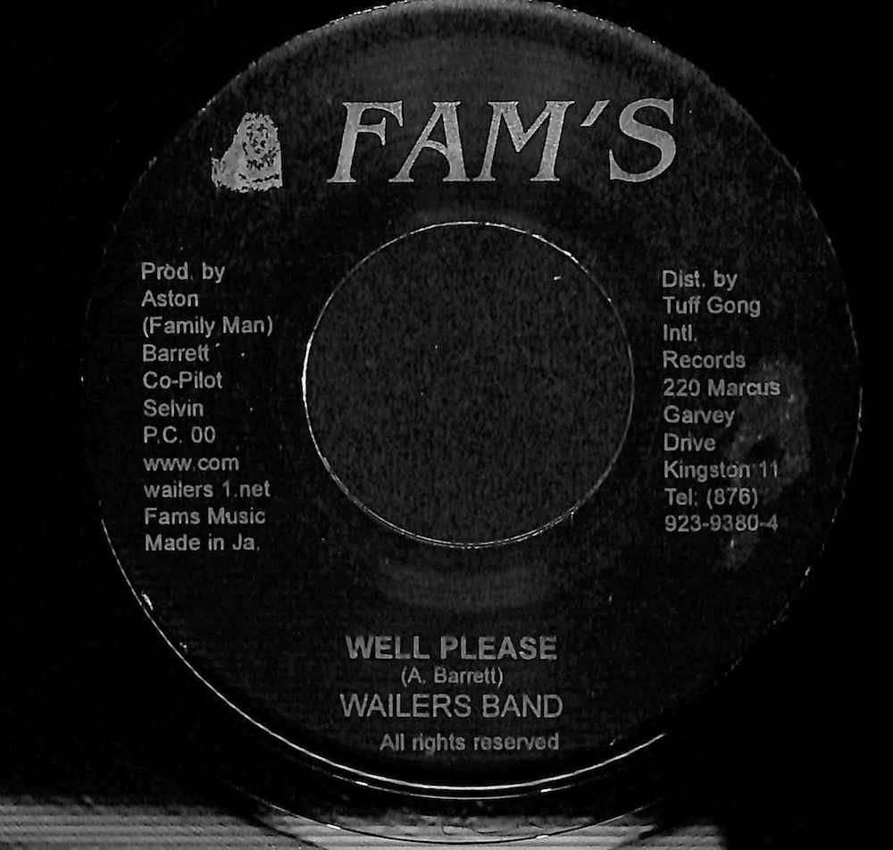 WAILERS BAND - Well Please / Version - 7inch x 1