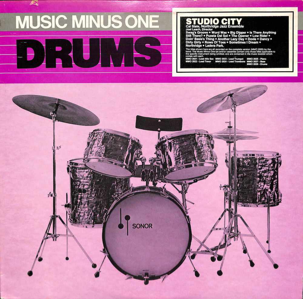 CAL STATE NORTHRIDGE ENSEMBLE - Drums: Music Minus One - LP