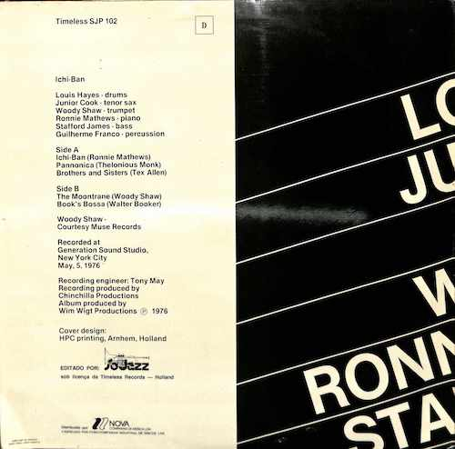 LOUIS HAYES - JUNIOR COOK Featuring WOODY SHAW Ichi Ban