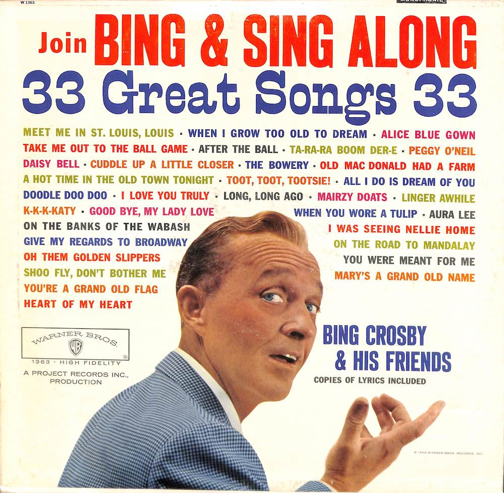 BING CROSBY - Join Bing & Sing Along - LP