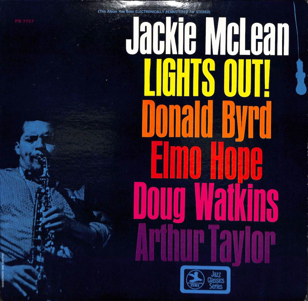 JACKIE MCLEAN QUINTET WITH DONALD BYRD & ELMO HOPE - Lights Out - LP
