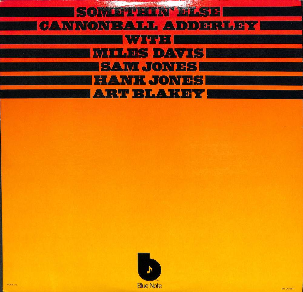 CANNONBALL ADDERLEY Somethin' Else