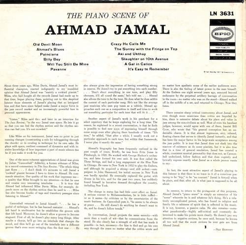 AHMAD JAMAL The Piano Scene Of