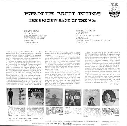 ERNIE WILKINS The Big New Band Of The '60s