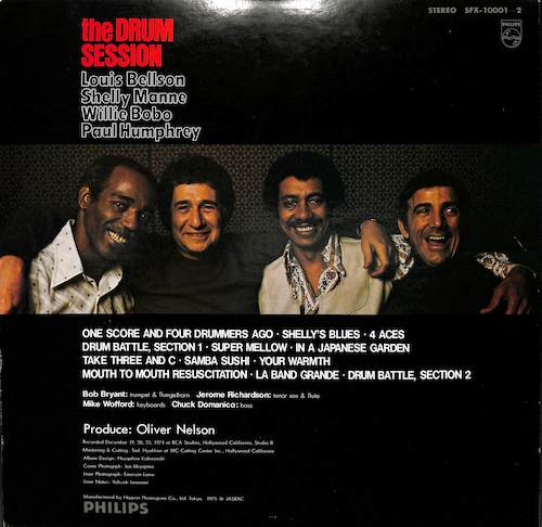 LOUIS BELLSON SHELLY MANNE WILLIE BOBO PAUL HUMPHR The Drum Session