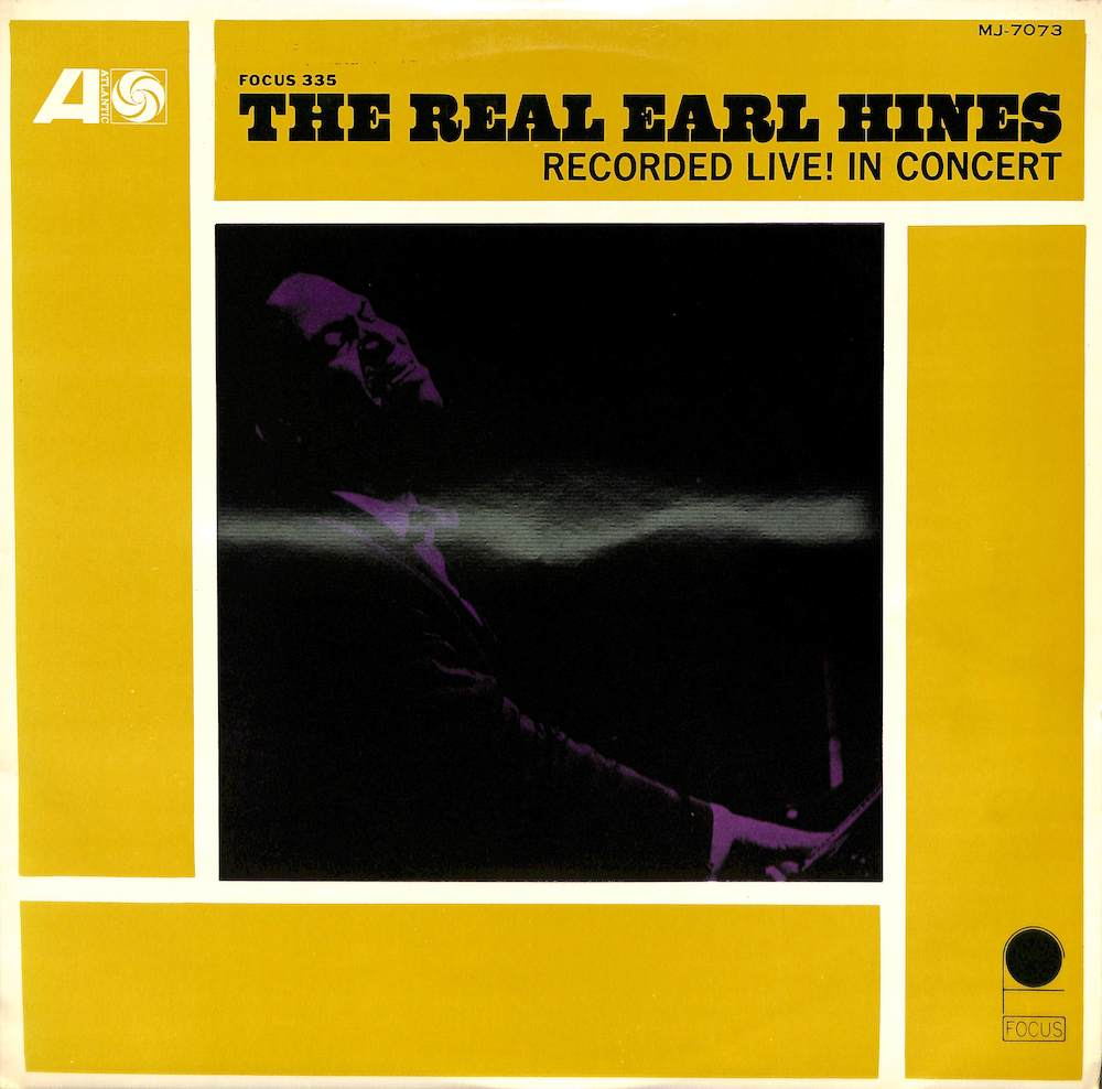 EARL HINES - The Real Earl Hines Recoeded Live In Concert - LP