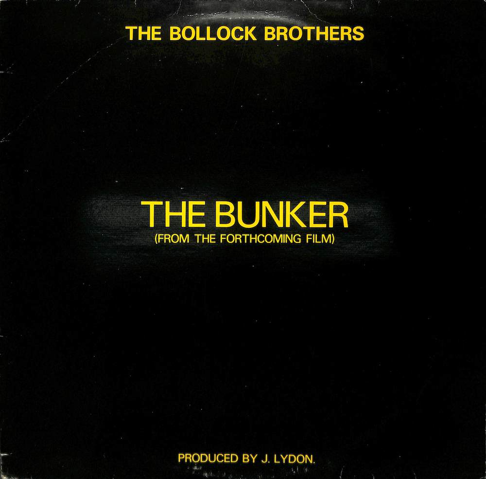 BOLLOCK BROTHERS - The Bunker / Bootleg Man - Maxi x 1