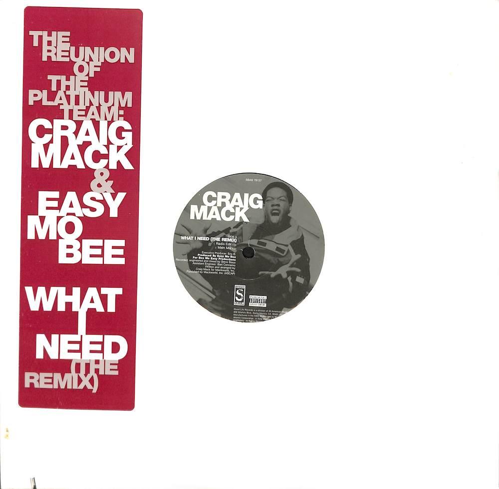 CRAIG MACK & EASY MO BEE - What I Need: Remix - Maxi x 1