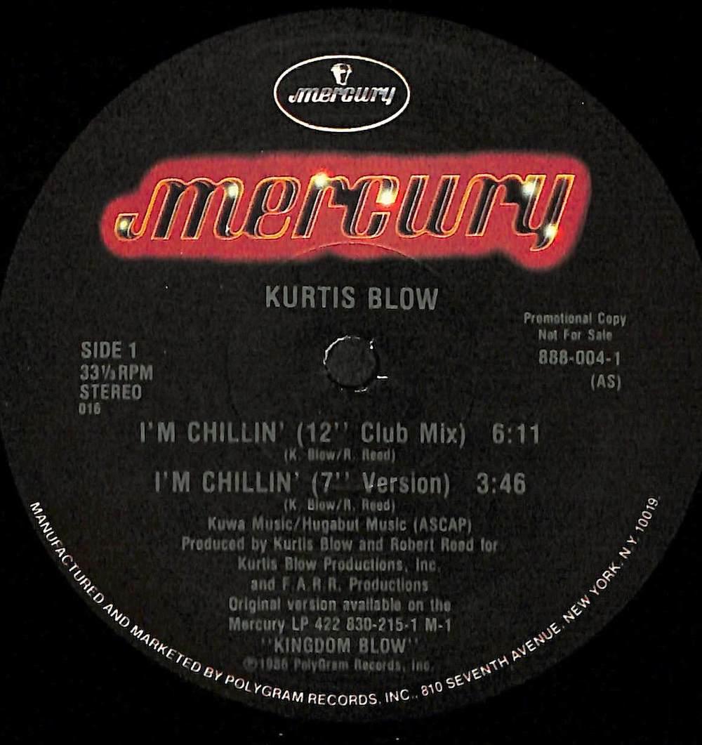 KURTIS BLOW - I'm Chillin' - Maxi x 1