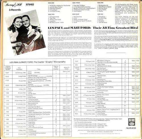 LES PAUL & MARY FORD Their All Time Greatest Hits!